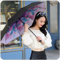 韩版创意米兰假日遮阳防紫外线时尚太阳伞 简单米兰风晴雨伞