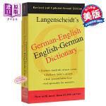【中商原版】德英,英德词典 英文原版 German-English Dictionar Langenscheidt E
