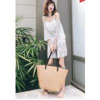 小胸聚拢平角白色罩衫学生韩国分体少女长袖 泳衣女三件套 支持礼品卡