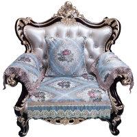 欧式沙发垫布艺客厅真皮组合坐垫防滑沙发套全盖四季通用