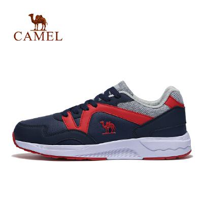 camel骆驼运动男款跑鞋 缓震舒适低帮系带时尚跑步鞋