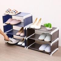 家居组装创意鞋架 多层简易客厅卧室纯色简约无纺布收纳架