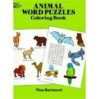 按需印刷 Animal Word Puzzles Coloring Book