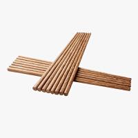 【10双装】当当优品 天然鸡翅木捞面油炸加长火锅筷 30厘米