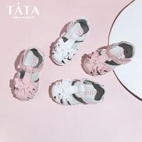 【159元任选2双】他她童鞋夏季婴儿小童包头凉鞋宝宝凉鞋男女软底防滑学步鞋
