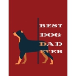 预订 Best dog dad ever: Dog journal College Ruled Lined Paper