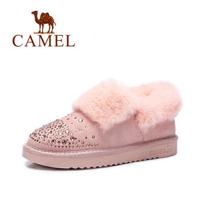 Camel/骆驼女靴  棉靴平底加绒短靴时尚保暖雪地靴