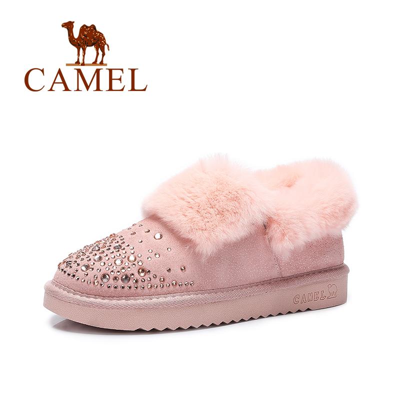 Camel/骆驼女靴  棉靴平底加绒短靴时尚保暖雪地靴秋季焕新 全场满59元包邮
