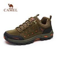 camel骆驼户外登山鞋 秋季新款磨砂牛皮男士登山鞋