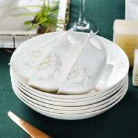 景德�骨瓷碗碟套�b家用��意餐具�碗�P子�M合��s新中式陶瓷碗筷