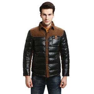 雅鹿秋冬男士男款羽绒服  纯色翻领  轻薄 短款羽绒服外套 在线支付顺丰包邮 YO39060