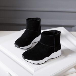 O'SHELL欧希尔新品115-D-7315休闲磨砂绒面女士雪地靴