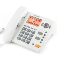 松下(Panasonic)KX-TS398CN免提通话来电显示电话机家用办公座机(白色)屏幕背光、免提通话及拨号