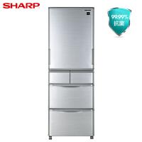 夏普(SHAAP)冰箱 SJ-SA41W-S 左右开门多门冰箱 412升 节能变频 风冷无霜 自动制冰 PIC静离子技术