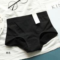 1条简约纯色性感中腰女士内裤三角全棉透气收腹提臀产后短裤