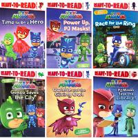 PJ Masks 睡衣小英雄 6册 Ready to Read 西蒙准备阅读系列 英文原版儿童分级读物 启蒙阅读培养绘