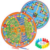 儿童早教磁性迷宫运笔走珠游戏3-4岁亲子飞行棋益智力男女孩玩具