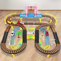 电动轨道车套装小火车汽车三四五周3-4-5-6岁儿童赛车玩具车 男孩