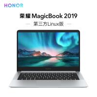 荣耀MagicBook 2019 第三方Linux版 14英寸轻薄窄边框笔记本电脑(AMD R5 3500U 8G 5