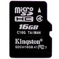 【送读卡器】金士顿 TF 16G MicroSD平板 手机内存卡 高速class4