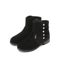 【99元任选2双】芭比童鞋女童靴子休闲鞋中大童冬季婴幼童