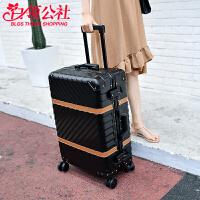 拉杆箱 男女士新款商务铝框旅行行李箱男女士万祥坤密码登机箱学生时尚箱包.