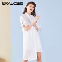ERAL/艾莱依衬衫女短袖2018夏季新款长款衬衣韩版上衣女装衬衫潮