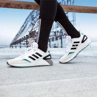 adidas阿迪休闲2018年新款中性黑白三条纹透气休闲耐磨运动跑步鞋BB9774