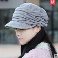 帽子女韩版休闲潮显脸小平顶帽大码时装帽妈妈帽户外新款鸭舌帽时尚简约遮阳帽