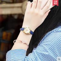 韩版简约女表 时尚潮流女学生防水手表休闲大气女士真皮石英表