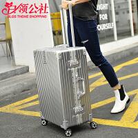 拉杆箱 男女士新款学生ABS铝框旅行箱男女式复古拉链款万祥坤行李登记密码箱时尚箱包.