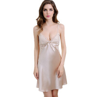 内衣透明薄款吊带衣服镂空花边情趣睡衣短裙舒适性感冰丝睡裙