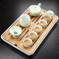 青瓷茶杯茶壶茶道茶盘泡茶套装家用整套茶具功夫茶具陶瓷茶组