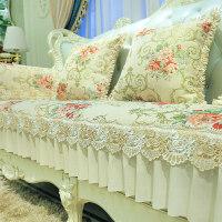 欧式沙发垫客厅沙发坐垫防滑四季通用布艺123组合三件套