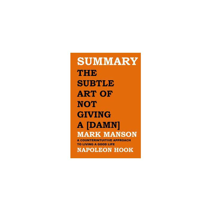 预订 Summary: The Subtle Art of Not Giving a [damn] by Mark Manson: A Counter [ISBN:9781719874892] 美国发货无法退货 约五到八周到货
