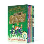 原版英语书籍 Secret Coders 秘密编程者6册全套 小学科学漫画绘本图画书 STEM教辅 小学科学计算机编程