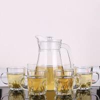 玻璃杯套装 无盖带把6只透明大容量鸭嘴冷水壶泡2020家用客厅泡茶凉水杯子