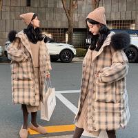 2019年新款棉衣孕妇秋冬装外套时尚款孕后期大码棉袄