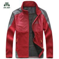 战地吉普AFS JEEP秋装新品立领卫衣外套 A7127男士开衫 超细纤维