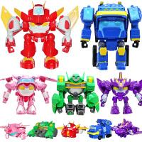 【领券下单立减30】开心超人正义机车侠开心宝贝超人联盟儿童合体变形动漫玩具机器人