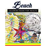 预订 Beach Coloring Books for Adults: A Sketch grayscale colo