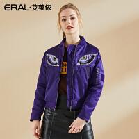 ERAL/艾莱依张帅设计时光之眼短款女羽绒服夹克女潮12053-EDAE