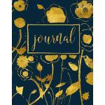 预订 Journal: Gold & Navy Florals: Notebook & Journal [ISBN:9