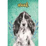预订 Woof: Cocker Spaniel Pet Dog Notebook and Journal. Funny