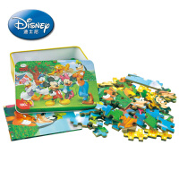 【当当自营】迪士尼拼图 积木拼插玩具 冰雪奇缘公主100片铁盒木制拼图木质玩具11DF2429