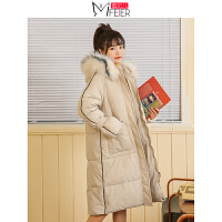 蜜妃儿ins港风中长款棉服女冬季2019新款韩版宽松面包服棉袄外套