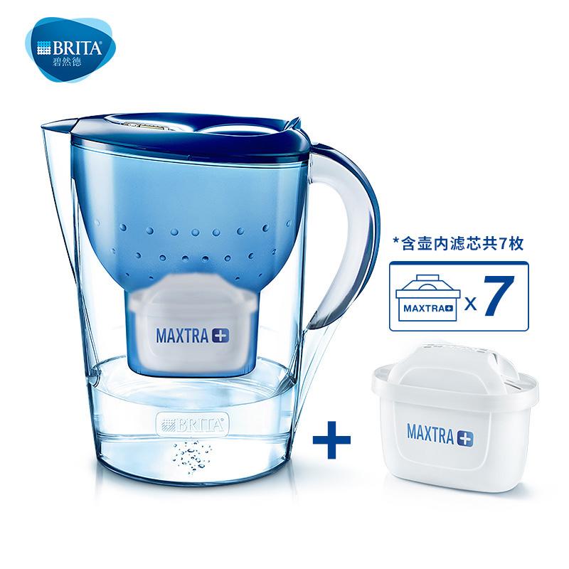 碧然德(BRITA) 过滤净水器 家用滤水壶 净水壶 金典 Marella3.5L蓝色 1壶7芯德国技术专业滤水,让您引用卓越品质好水!