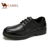 camel骆驼男鞋 新款头层牛皮商务休闲系带男鞋 男士休闲鞋
