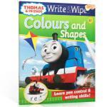【顺丰包邮】可擦写:托马斯和朋友们系列Thomas Wipe & Write Colours and Shapes 形