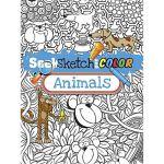 按需印刷 Seek, Sketch and Color -- Animals